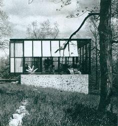 #Philip Johnson | 1953 - The Robert C. Wiley House, aka the Wiley Development Company House, 178 Sleepy Hollow Road, New Canaan CT*