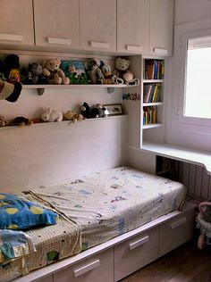 Tiny Bedroom Design, Small Bedroom Designs, Kids Room Design, Bed Design, Very Small Bedroom, Small Room Bedroom, Box Room Bedroom Ideas, Day Bed Frame, Childrens Room Decor