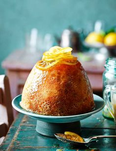 Lemon and ginger steamed pudding - sweet, syrupy and sticky
