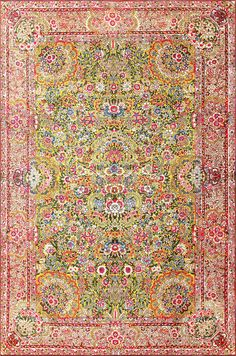 View this beautiful Saffron Yellow Antique Persian Kerman Rug 48659 from Nazmiyal's fine antique rugs and decorative carpet collection in NYC.