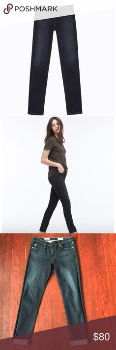 AG Contour 360 Prima Cigarette Mid-Rise jeans AG Contour 360 Prima Cigarette Mid-Rise jeans.  Mercury rinse. Inseam approx 29. rise 8.5. Excellent used condition. AG Adriano Goldschmied Jeans