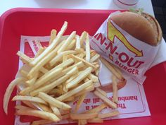 The Cheeseburger at In-N-Out Burger in Glendale, California.
