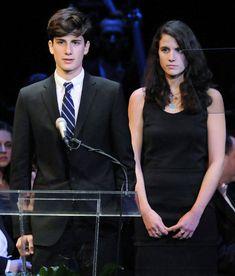 Grandchildren of JFK and Jackie. Two children of Caroline Kennedy Schlossberg. John and Rose.