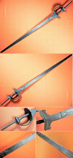 """Indian khanda hilted, firangi sword (""""firangi"""" an Indian word meaning 'foreigner or foreign'), a sword type which used blades manufactured in Western Europe and imported into India initially by the Portuguese, or made locally in imitation of European blades. 18-19 century. Blade 37 inches, total length 48 inches."""