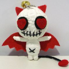 Devil demon love String doll Voodoo doll keychain/ by narakdoll
