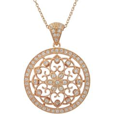 Luxiro Sterling Silver CZ Filigree Celtic Circle Medallion Necklace ($73) ❤ liked on Polyvore featuring jewelry, necklaces, accessories, charm necklace, sterling silver necklaces, long chain necklace, cubic zirconia necklaces and circle pendant necklace