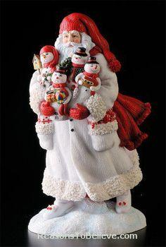 Snowman Santa | Santa Claus Figurines and Hand Carved Wooden Santas