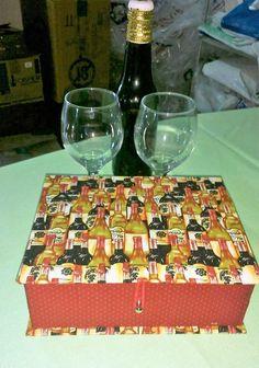 -Caixa de cartonagem para guardar bebidas!
