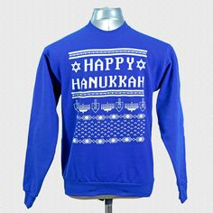 Ugly Hanukkah sweater! So my Jewish bestie isn't left out of the ugly Christmas sweater fad!