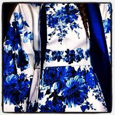 Valentino blue and white