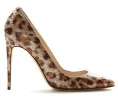 Max Kibardin leopard-printed python pump