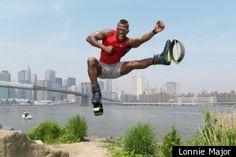 Mario Godiva in Kangoo Jumps, NYC.