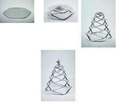 Multi Purpose, Flat Pack in alluminio Albero di Natale per minimalisti incalliti