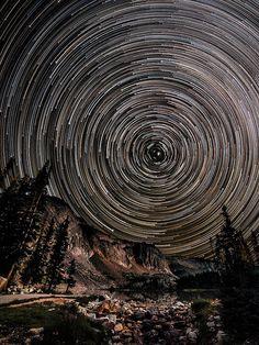 Snowy Range Star Trails by David Kingham, via Flickr