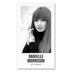 Actors and Models Classic Headshot Business Card