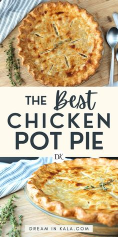 The best chicken pot pie recipe you've ever made! This simple and delicious recipe will make you feel like a pro! We also offer a FREE 60+ Recipes of the World e-book! these quick and easy recipes will help you become the chef you know you are! #chickentacos #chickentacosrecipe #easychickentacos