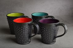 Spiky Mugs Made To Order Dangerously Spiky by symmetricalpottery