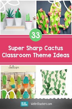 Stay sharp with a cactus classroom theme that your students will love! Read on for WeAreTeachers' cactus designs and decor. Teacher Bulletin Boards, Classroom Themes, Lesson Plans, Back To School, Theme Ideas, Cactus, Teaching, Activities, Students