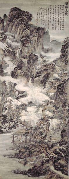 Kun Can (髡殘) , (石谿) 山高水长图 台北故宫藏