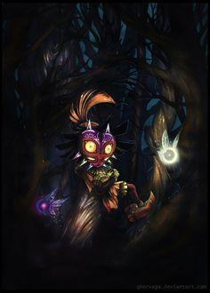 Majora's Mask, The Legend of Zelda: Majora's Mask artwork by Ghor Vega. The Legend Of Zelda, Majora Mask, Zelda Tattoo, Ocarina Of Times, Art Loft, Diamond Art, Twilight Princess, Breath Of The Wild, Ancient Artifacts