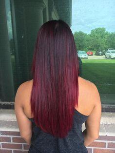 2b16d151356 8 Best burgandy ombre images | Hair colors, Haircolor, Hair, makeup