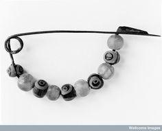 Fibula-bow type-decorated with beads, Iron Age. Halstatt II