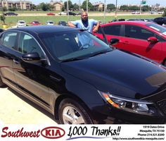 https://flic.kr/p/JDSMm8 | Happy Anniversary to Kevin on your #Kia #Optima from Jerry Tonubbee at Southwest Kia Mesquite! | deliverymaxx.com/DealerReviews.aspx?DealerCode=VNDX