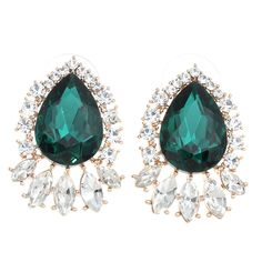 Zinc alloy with crystal&rhinestone #earring,more color for choice http://www.beads.us/product/Zinc-Alloy-Stud-Earring_p267263.html?Utm_rid=219754