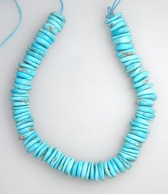 Sleeping Beauty Turquoise Natural Rough Cut Heishi Beads Blue 6 Inch