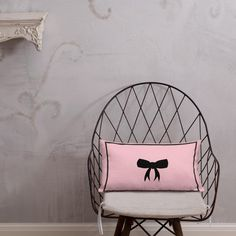 Marinette Pink blush bow Premium Pillow