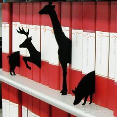 These book dividers are just perfect for the stomping grounds of a children's library, aren't they?