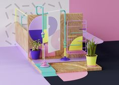 Idea for a modern doll house... Explorations graphiques par Grate Studio - Beware!