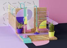 Idea for a modern doll house... Explorations graphiques par Grate Studio - Beware!
