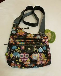 Never Used Lily Bloom Owl Pattern Handbag Cross Body Purse Hard To Find! Cute!