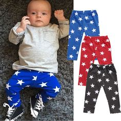 Nice Kids Toddler Baby Boy Girl Clothes Star Printed Harem Pants Trousers Bottom Leggings 0-24M - $6.72 - Buy it Now!