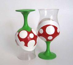 Arcade-Inspired Dishware - The Piranha Plant Wine Glasses