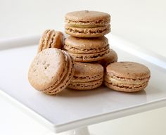 Bourbon-Pecan Macarons. I'm definitely trying these with the sea salt sprinkle!