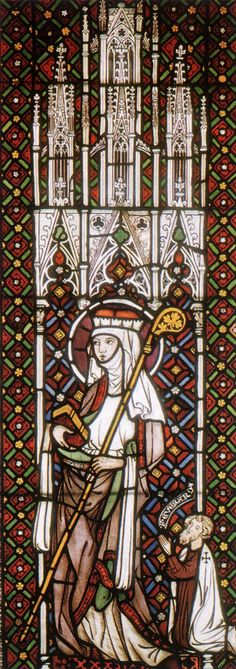 GOTHIC GLASS PAINTER, German, St Gertrude, 1280s, Stained glass window, Westfälisches Landesmuseum, Cologne