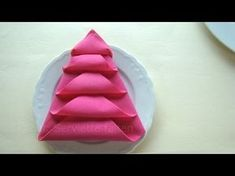 Pliage serviette noël: Le sapin - Pliage de serviette en papier - Décoration pour noël - YouTube