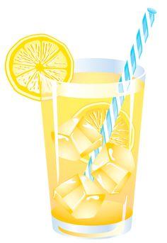 Lemon Summer Drink PNG Vector Clipart