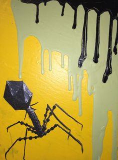 Bacteriopage Panel, Scientific Art by AshleyGraceDotCom on Etsy https://www.etsy.com/listing/249339301/bacteriopage-panel-scientific-art