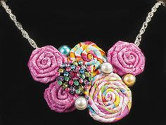 Coiled Rose Necklace