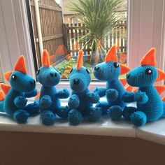 Latest group of dragons, this time in colours specially chosen by my customer.