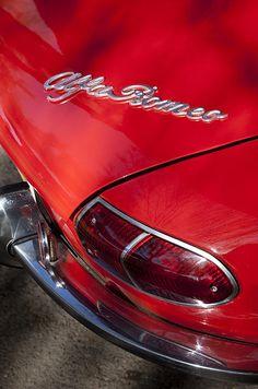 1969 Alfa Romeo 1750 Spider Taillight Emblem - Car photographs by Jill Reger