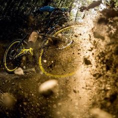 """@teamleov : """"I think one of the best feelings riding a mountain bike is when you drift a corner. It certainly lifts the stoke levels especially when it's your first one since an injury! #smilesformiles #canyontakeover  @svenmartinphoto"""