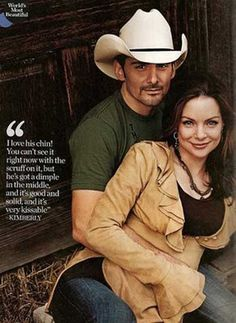"Brad Paisley and Kimberly Williams his wife. I think they are an adorable couple. I love his song about her, ""She's Everything""."