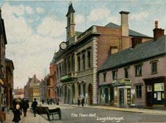 Leicestershire, Loughborough, Town Hall 1900's