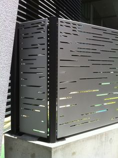 bok modern privacy screens contemporary security fencing fence laser cut steel A18 pattern kynar aluminum powder coat