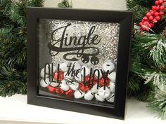 Jingle All The Way Christmas Decor Shadow Box by justforkeeps, $24.00