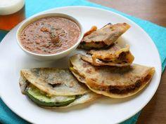 Grilled Squash Quesadillas with a Charred Tomato Salsa
